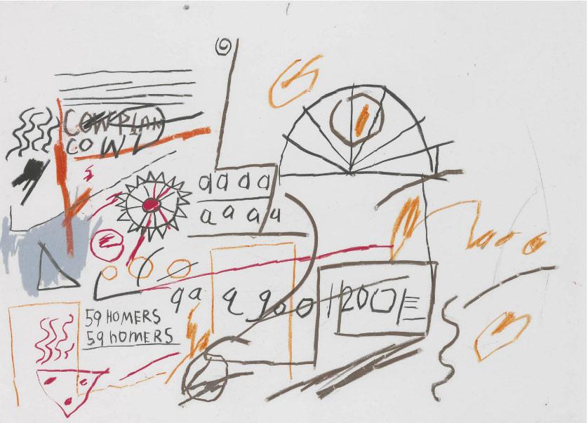 Jean-Michel Basquiat-59 Homers-1982