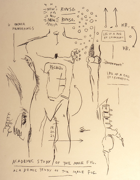 Jean-Michel Basquiat-Academic Study of the Male Figure-