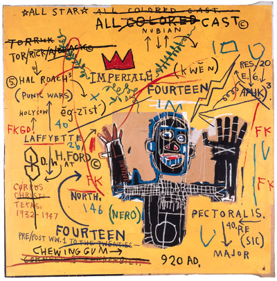 Jean-Michel Basquiat-All Colored Cast I-1982