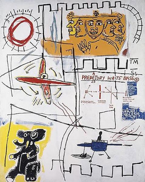 Jean-Michel Basquiat-Alpha Particles-1984