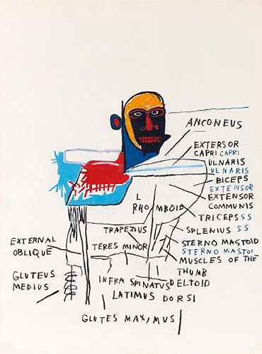Jean-Michel Basquiat-Anatomy-1982