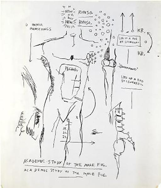 Jean-Michel Basquiat-Anatomy II-1982