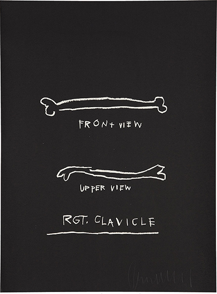 Jean-Michel Basquiat-Anatomy: One Plate (Rgt Clavicle)-1982