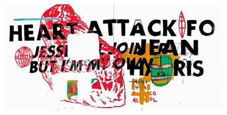 Jean-Michel Basquiat-Jean-Michel Basquiat; Andy Warhol - Heart Attack (Diptych)-1984