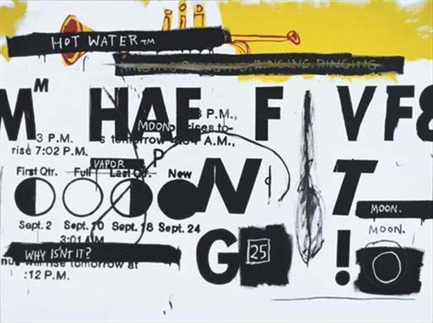 Jean-Michel Basquiat-Jean-Michel Basquiat; Andy Warhol - Hot Water-1985