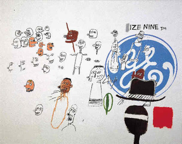 Jean-Michel Basquiat-Andy Warhol-Jean-Michel Basquiat; Andy Warhol - Size Nine-1984
