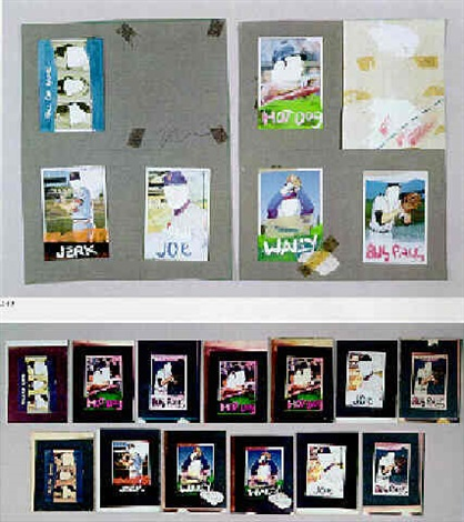 Jean-Michel Basquiat-Anti Product Baseball Cards-1979