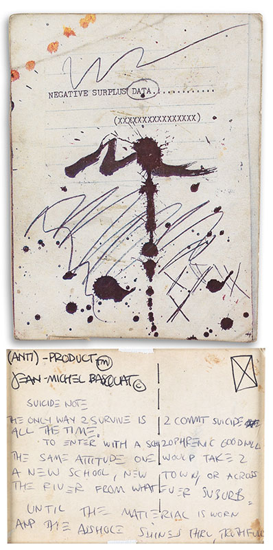 Jean-Michel Basquiat-(Anti) Product (Suicide)-1980