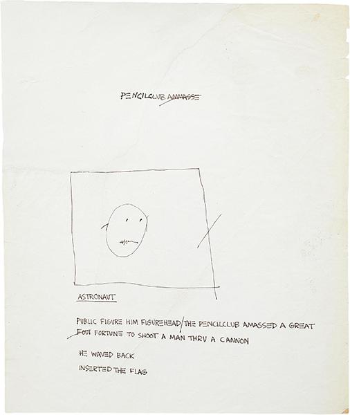 Jean-Michel Basquiat-Astronaut-1980