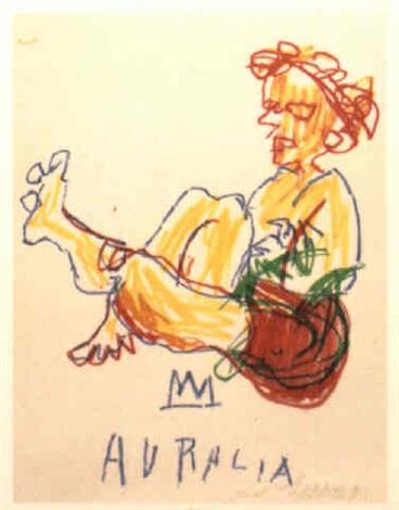 Jean-Michel Basquiat-Auralia-1981