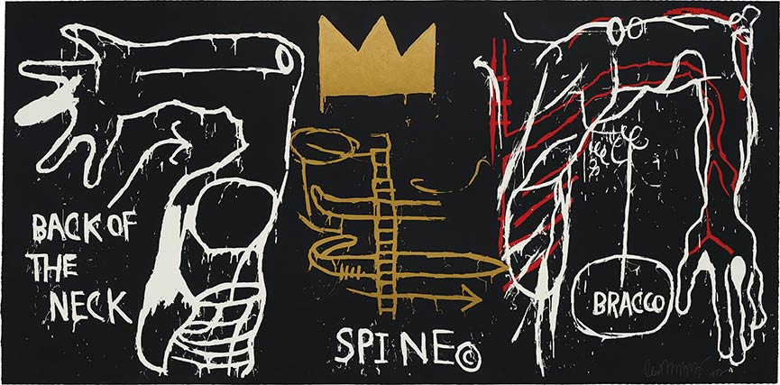 Jean-Michel Basquiat-Back of the Neck-1983