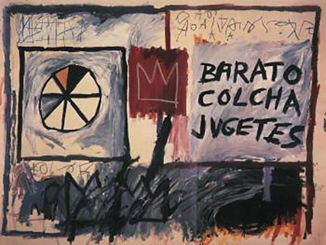 Jean-Michel Basquiat-Barato Colcha Jugetes-1982