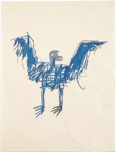 Jean-Michel Basquiat-Bird-1981