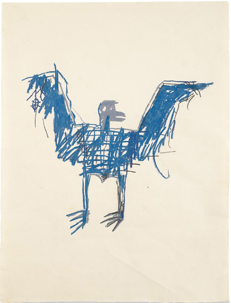 Jean-Michel Basquiat-Bird-1981