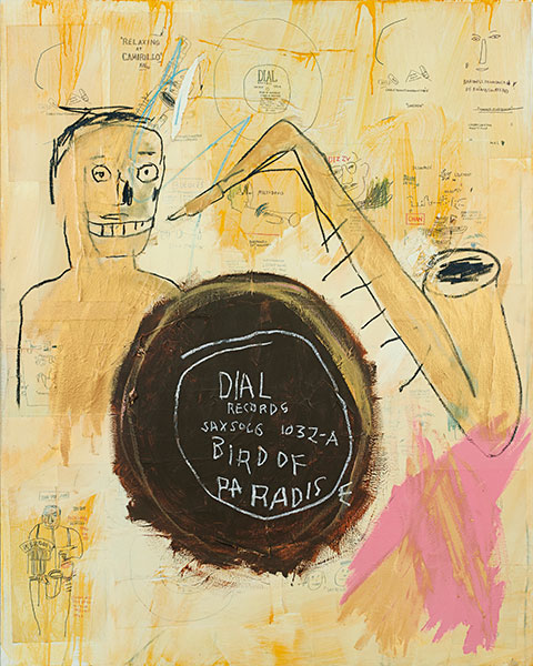 Jean-Michel Basquiat-Bird of Paradise-1984