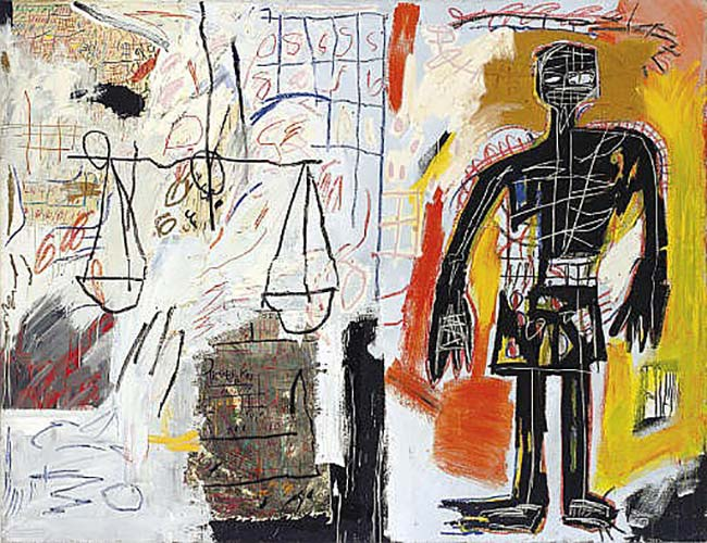 Jean-Michel Basquiat-Black Figure-1982