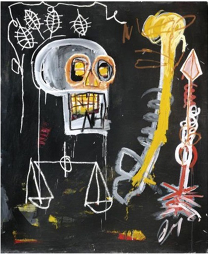 Jean-Michel Basquiat-Black Skull-1982