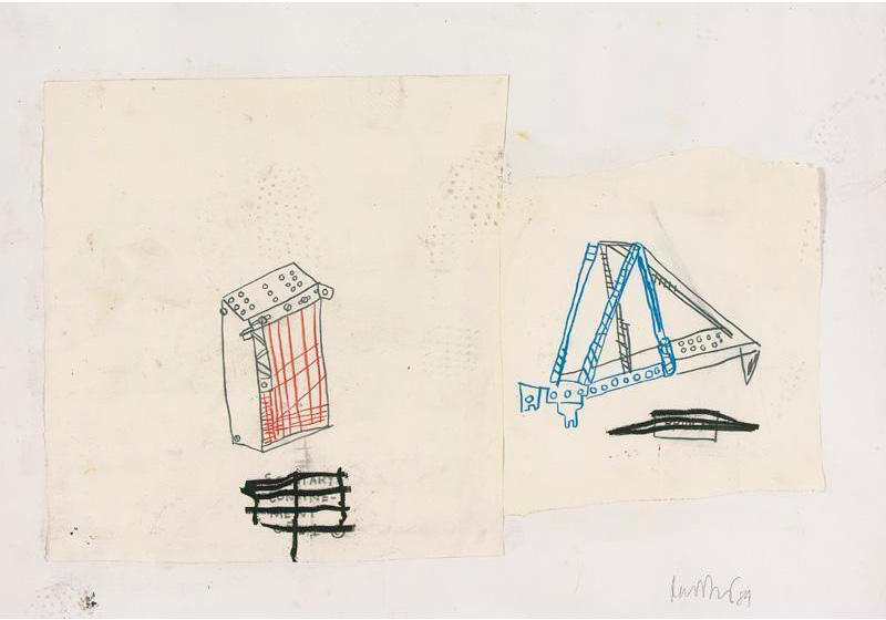 Jean-Michel Basquiat-Bridge and Jail-1984
