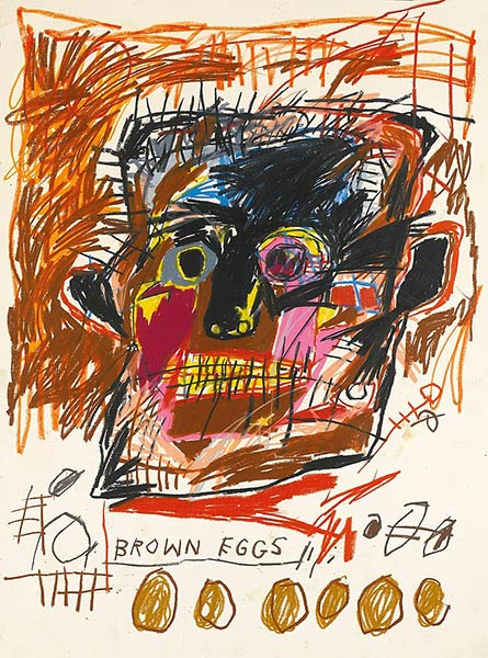 Jean-Michel Basquiat-Brown Eggs-1981