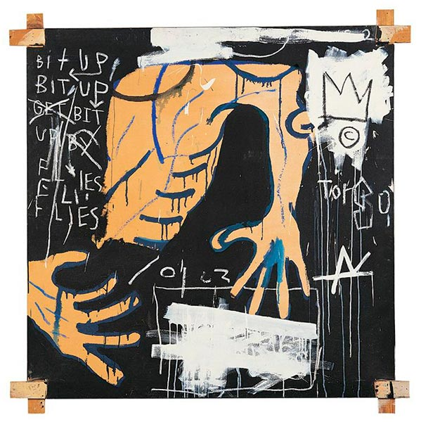 Jean-Michel Basquiat-Busted Atlas 2-1982