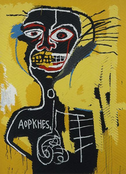 Jean-Michel Basquiat-Cabeza (Aopkhes)-1984