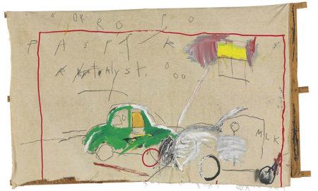 Jean-Michel Basquiat-Car Crash-1980