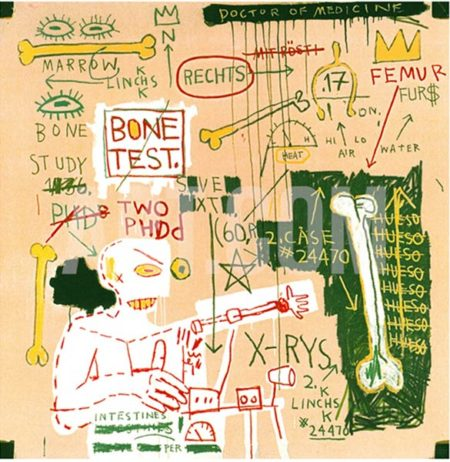Jean-Michel Basquiat-Carbon Dating Systems Versus Scratchproof Tape-1982