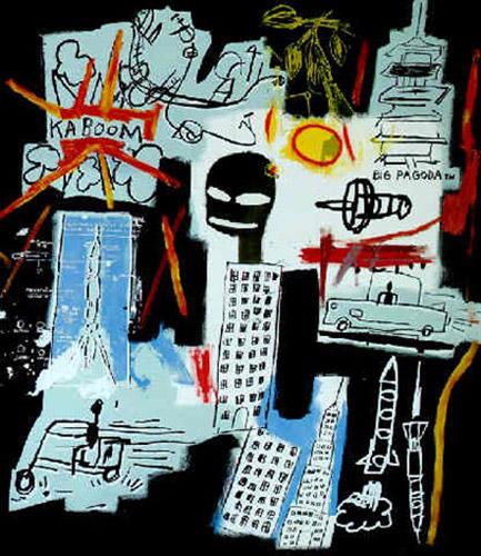 Jean-Michel Basquiat-Carbon - Oxygen-1984