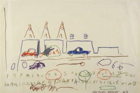 Jean-Michel Basquiat-Cars, Tepees-1981