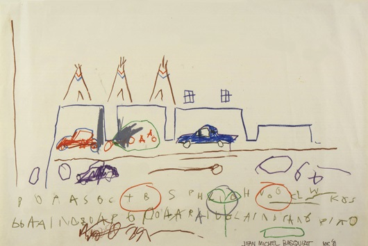 Jean-Michel Basquiat-Cars, Tepees-1981