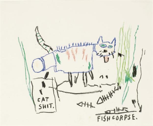 Jean-Michel Basquiat-Cat Shit-1985