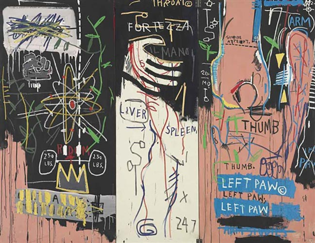 Jean-Michel Basquiat-Catharsis (Triptych)-1983