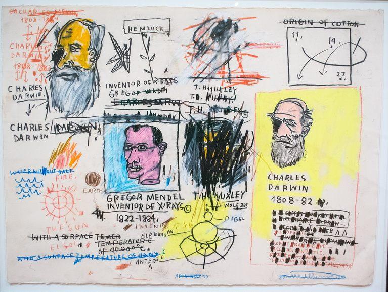 Jean-Michel Basquiat - Charles Darwin