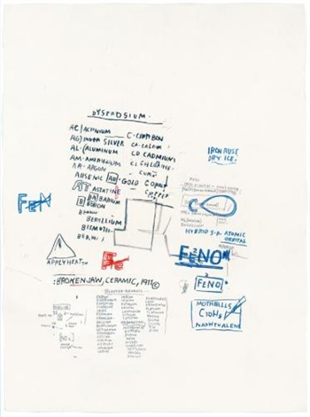 Jean-Michel Basquiat-Chemical Alphabet-1984
