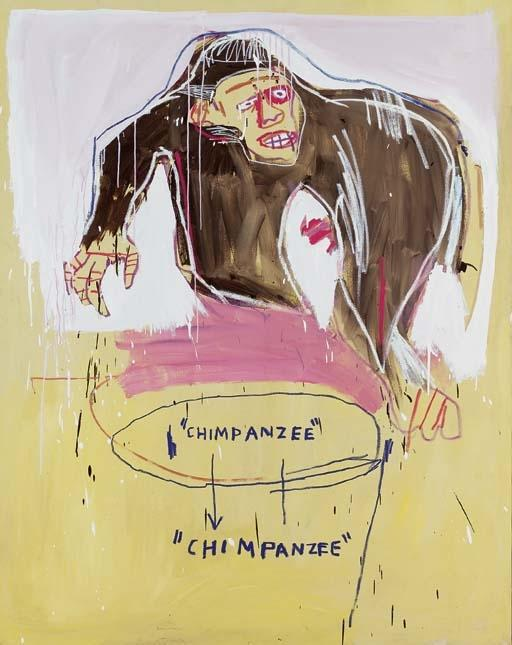 Jean-Michel Basquiat-Chimp-1983