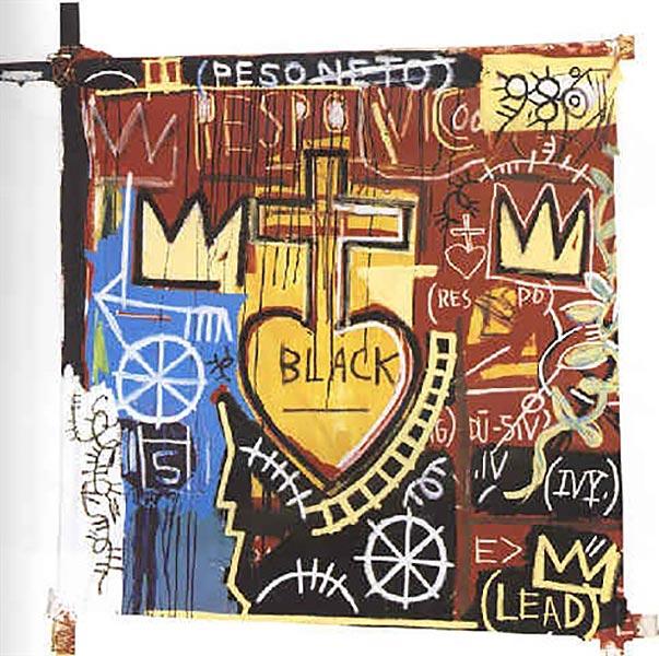 Jean-Michel Basquiat-Circus Vomit, Mostly Pink-1982