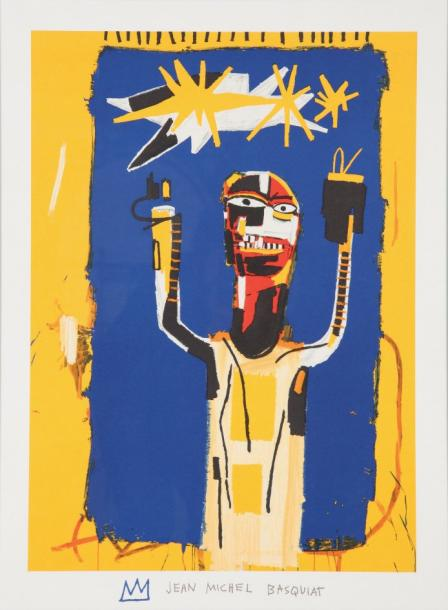 Jean-Michel Basquiat-Composition Au Personnage (Welcoming Jeers)-