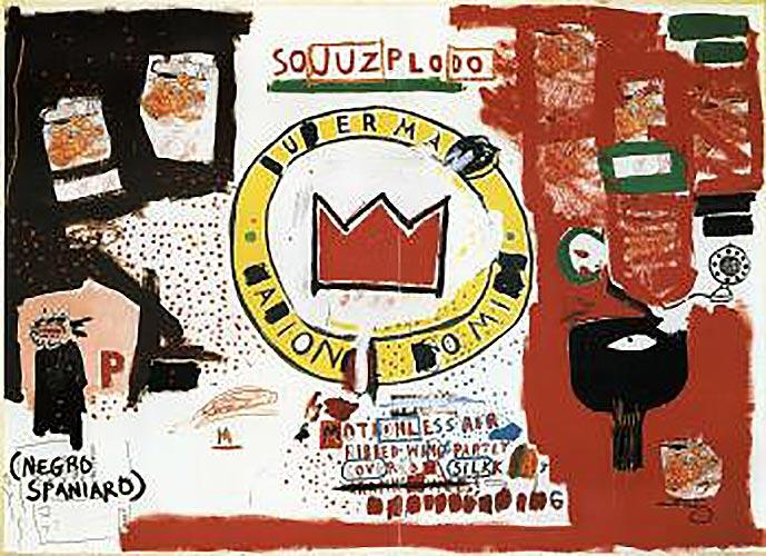 Jean-Michel Basquiat-Crown-1988