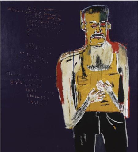 Jean-Michel Basquiat-Da Vinci's Water Theory-1983