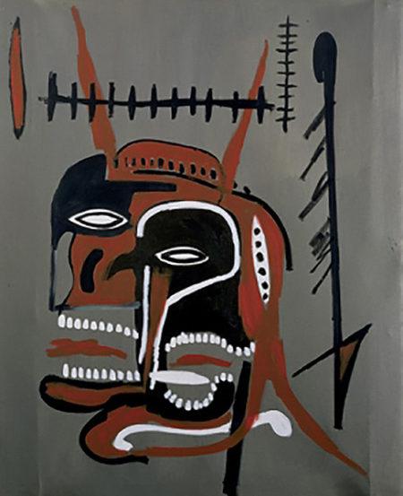 Jean-Michel Basquiat-Devil's Head-1987