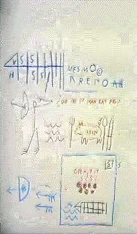 Jean-Michel Basquiat-Did The First Man Eat Pig?-1982