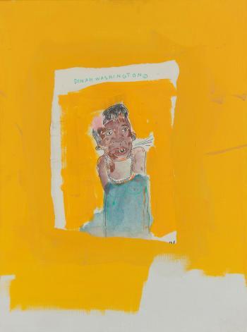 Jean-Michel Basquiat-Dinah Washington-1986