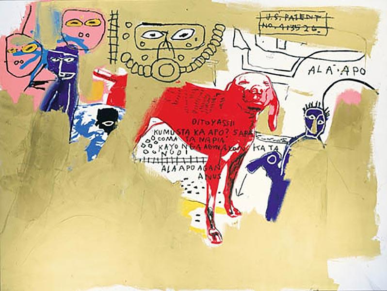 Jean-Michel Basquiat-Dog (Red)-1984