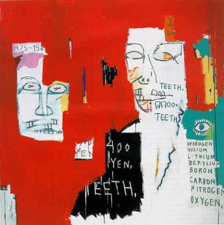 Jean-Michel Basquiat-Dos Cabezas 3-1983