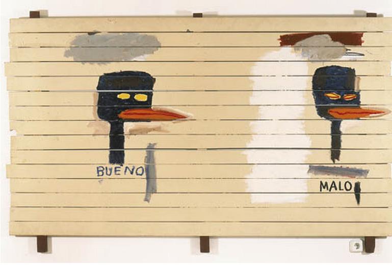Jean-Michel Basquiat-Dos Pajaros-1985