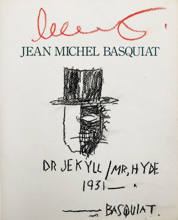 Jean-Michel Basquiat - Dr Jekyll kosacrta Mr Hyde 1931, 1988 (27 x 22 cm)