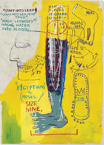 Jean-Michel Basquiat-Early Moses-1983