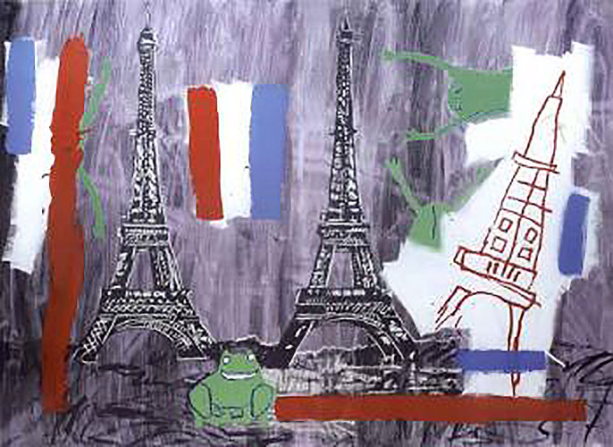 Jean-Michel Basquiat-Eiffel Tower-1985