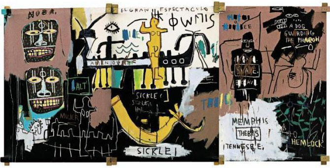 Jean-Michel Basquiat-El Gran Espectaculo-1983