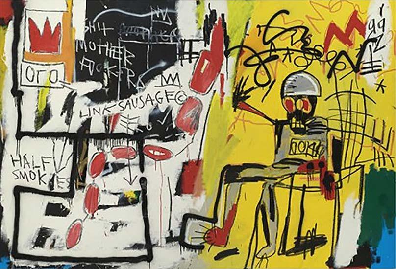 Jean-Michel Basquiat-Electric Chair-1981